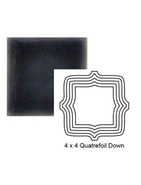 Quatrefoil down Steppe in Dark Denim