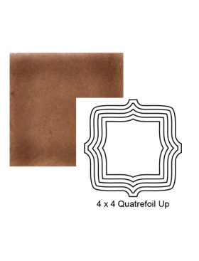 Quatrefoil up Steppe in Chocolate Milk