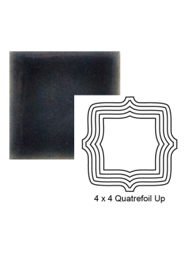Quatrefoil up Steppe in Dark Denim