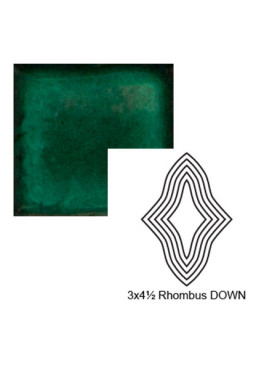 Rhombus down Steppe in Emerald