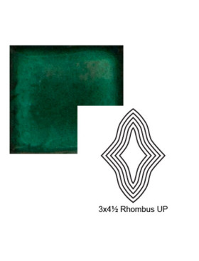 Rhombus up Steppe in Emerald