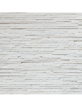 Arctic White Angled Thin Panel (Quartzite)
