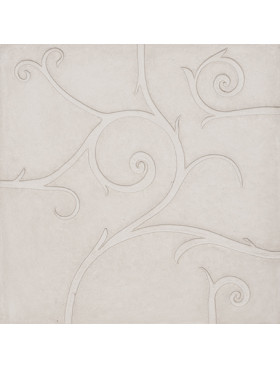 Flamboyant Marble, plain white