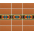 Tilcara Border with Red Field Tile
