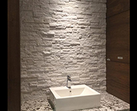 Realstone Systems Arctic White Shadowstone natural stone panel backsplash