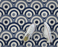 Oceana cement collection from Original Mission Tile floor