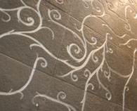 Flamboyant Collection by Giovanni Barbieri in  black natural stone wall tile