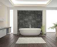 Oblio by Giovanni Barbieri black natural stone tile room scene